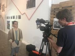 Ivo filming at LCC